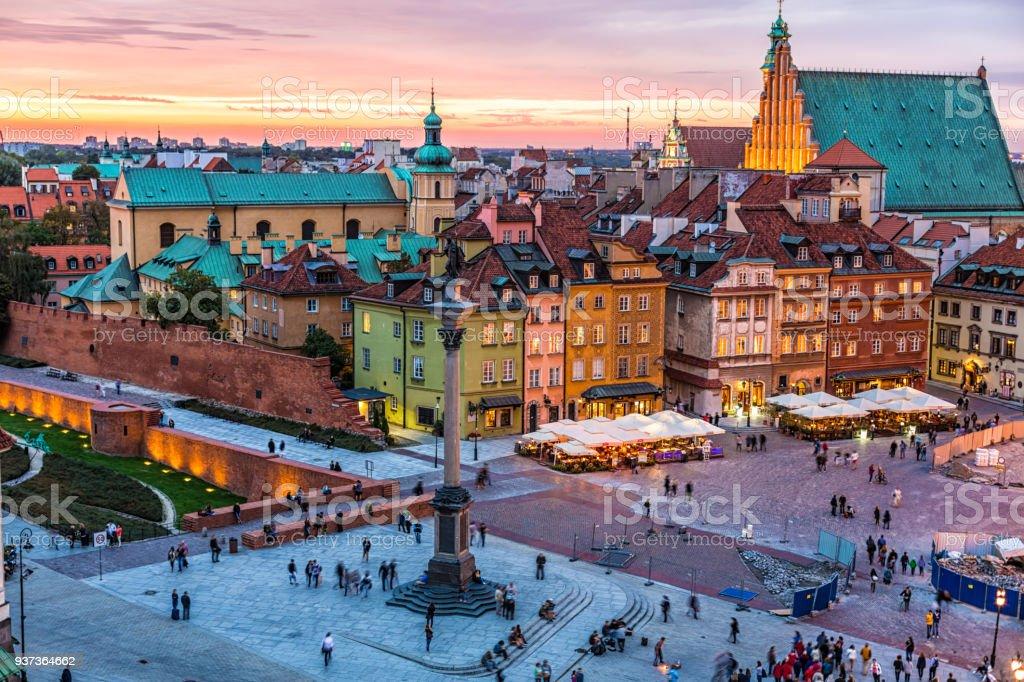 Skyline von Warschau mit Altstadt – Foto