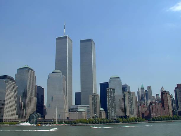 NYC Skyline with World Trade Center stock photo