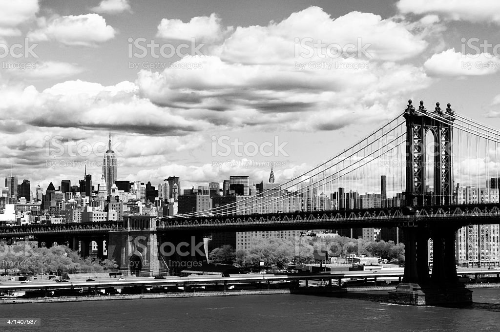 NYC Skyline.Black And White. stock photo