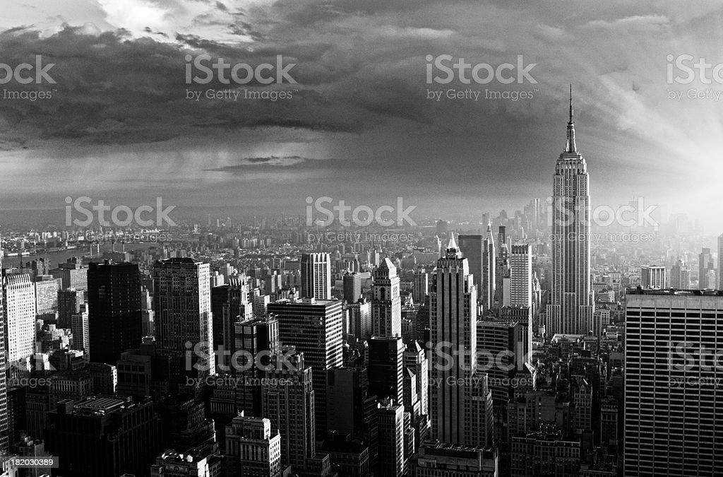 "Skyline,NYC. ""Skyline,NYC.Black And White"" 1960-1969 Stock Photo"