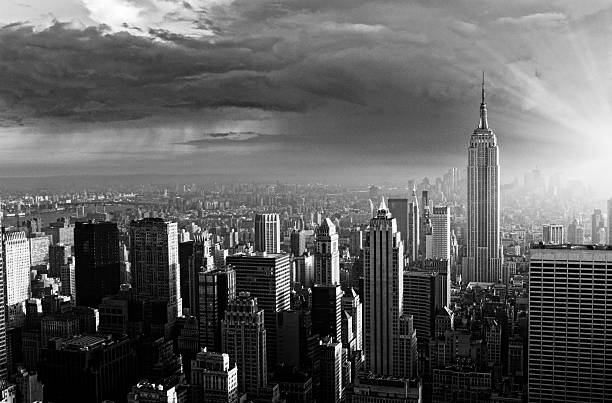 skyline,nyc. - 1960s style stock photos and pictures