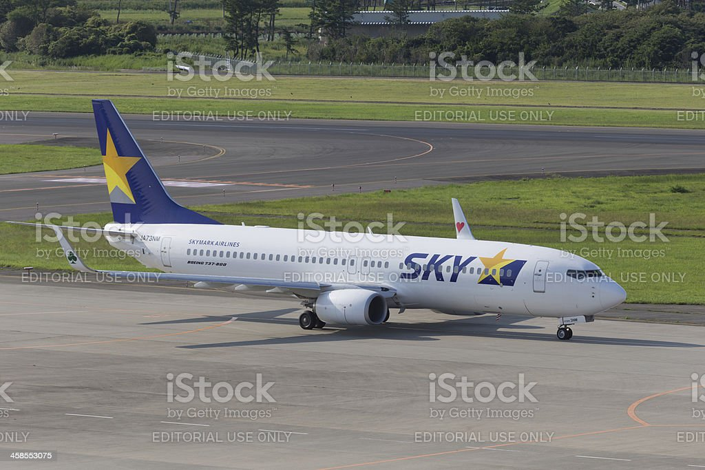 Skymark Airlines Boeing B737-800 stock photo
