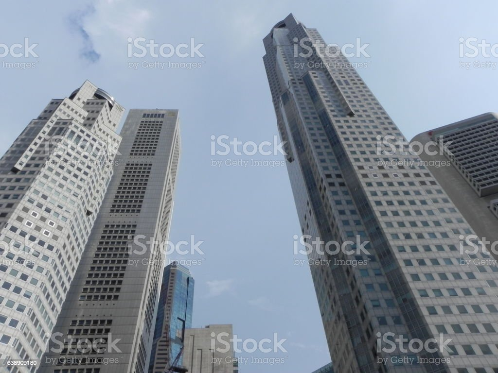 Skyscapers in Singapore stock photo