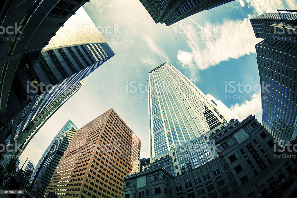 Skyscapers Office Buildings in Financial District, Philadephia, USA royalty-free stock photo