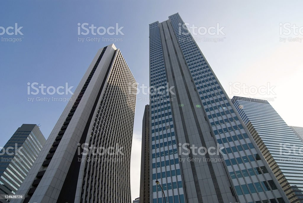 skyscarpers district royalty-free stock photo