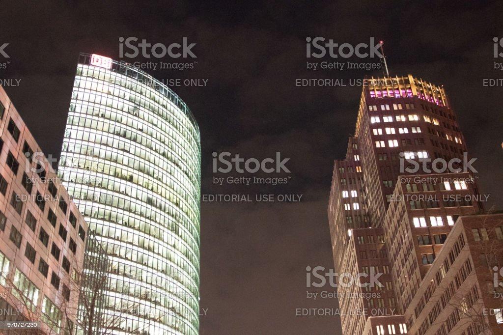 Db Skyscraper And Other Modern Buildings In Potsdamer Platz
