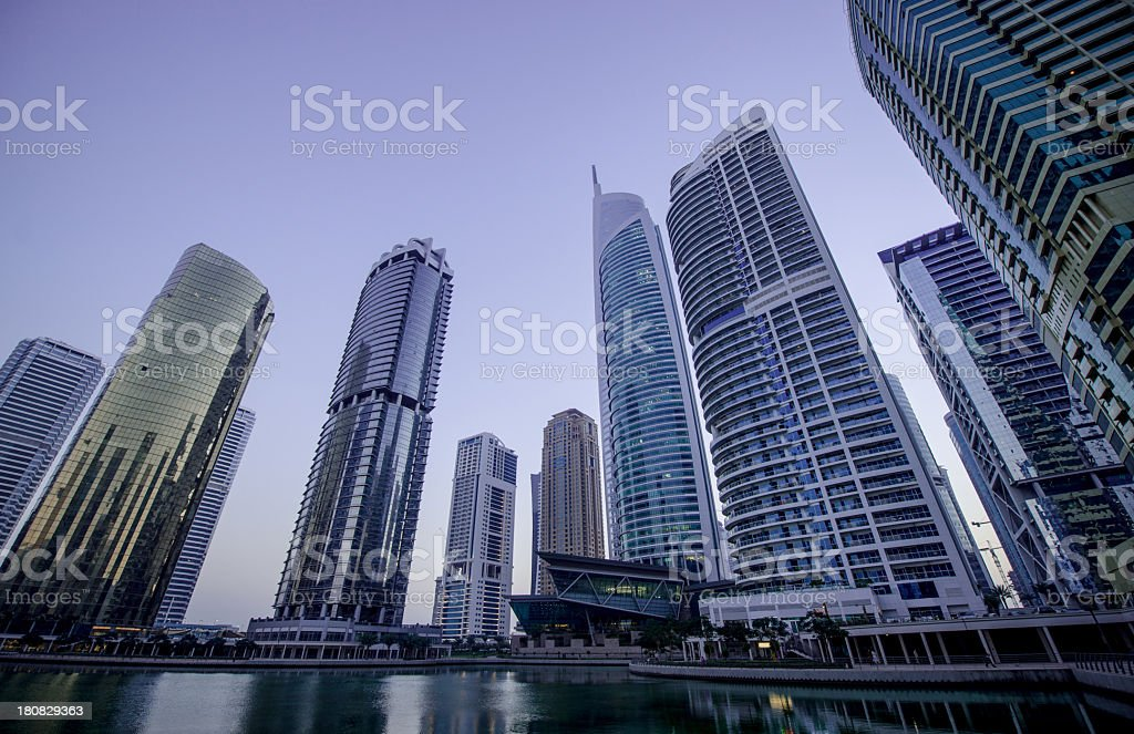 Skyscraper Apartments and office development stock photo