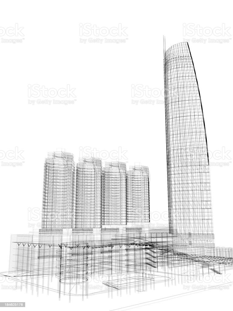 Skyscraper architecture blueprint stock photo more pictures of skyscraper architecture blueprint royalty free stock photo malvernweather Image collections