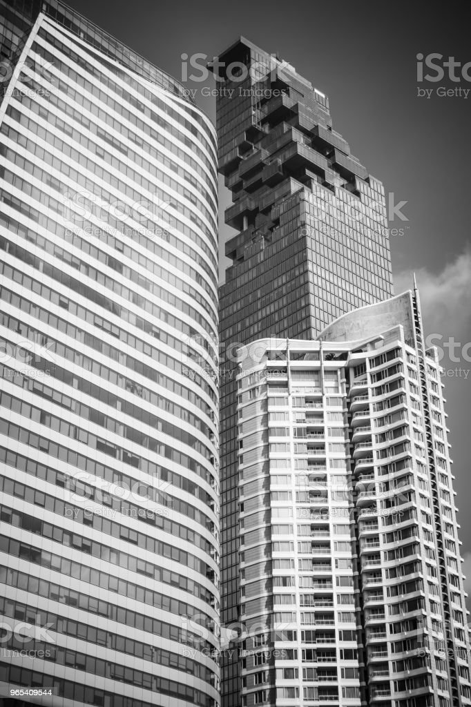 Skyscraper at Sathorn Road, Central business of Bangkok Thailand royalty-free stock photo