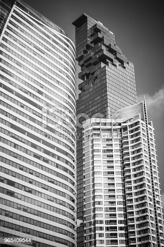Skyscraper At Sathorn Road Central Business Of Bangkok Thailand Stock Photo & More Pictures of Architecture
