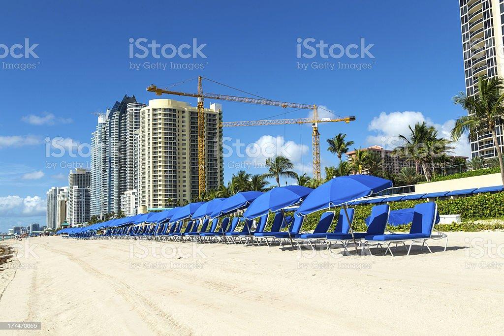 skyscraper at Sunny Isles Beach in Miami, Florida royalty-free stock photo