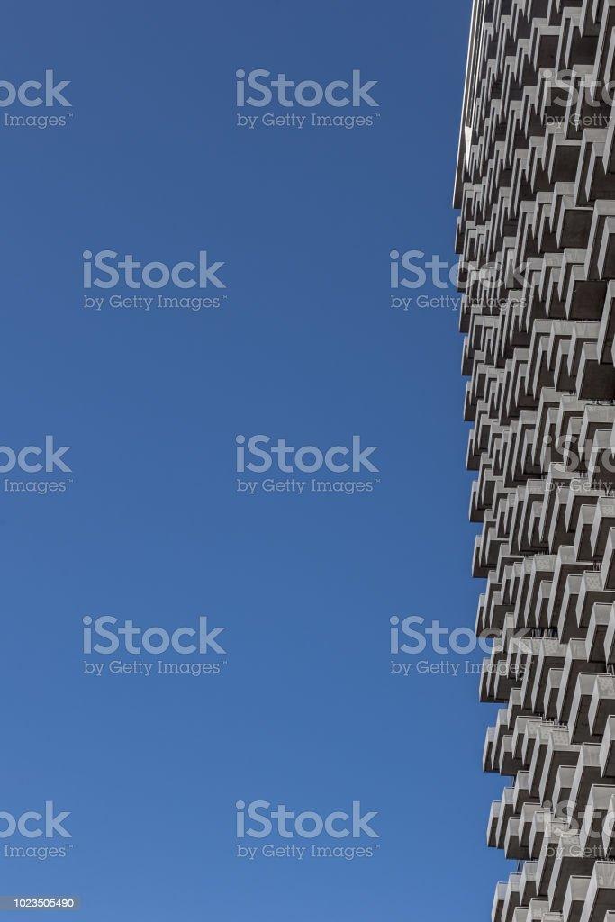 Skyscraper balcony pattern stock photo