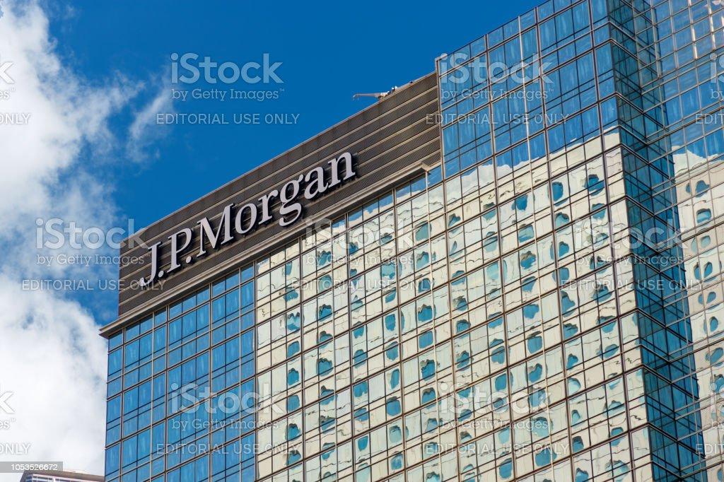 Wolkenkratzer Gebäude von JP Morgan in Hong Kong – Foto