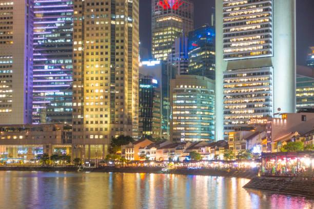 Wolkenkratzer Gebäude Singapur Stadt – Foto