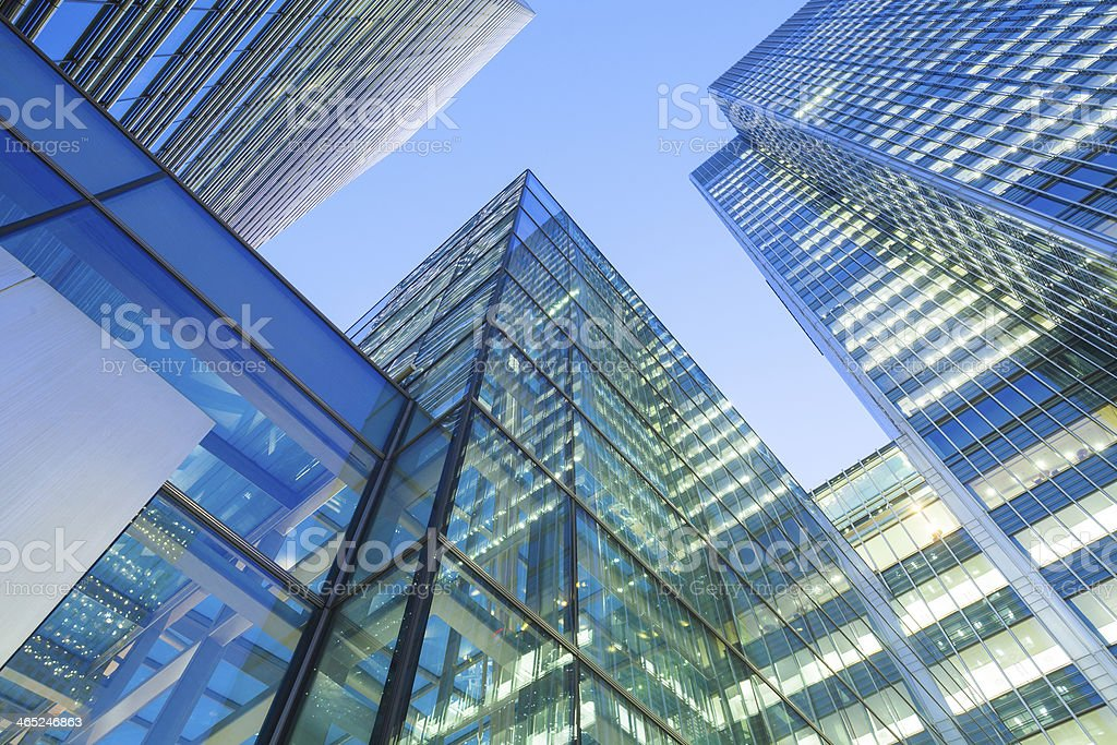 Skyscraper Business Office, Corporate building in London City, England, UK stock photo
