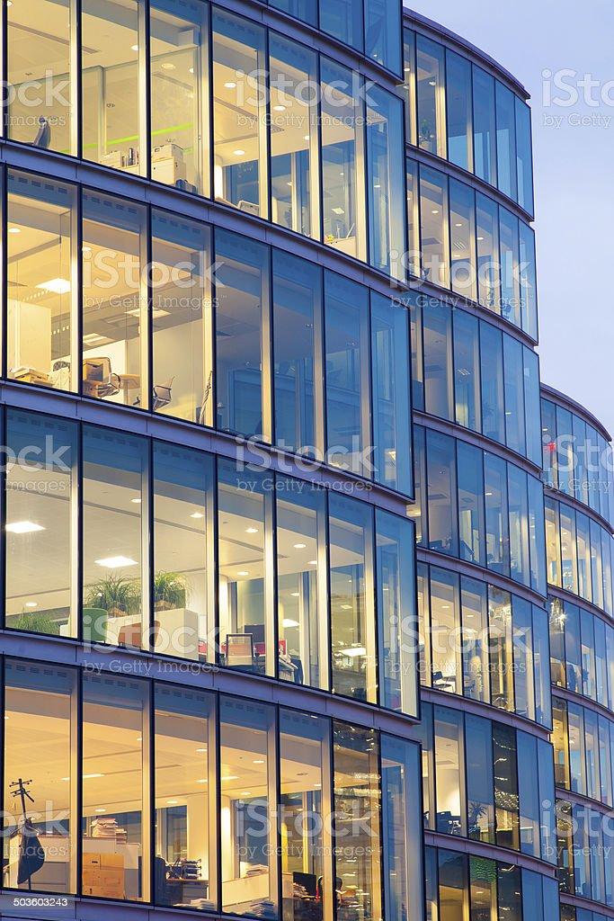 Skyscraper Business Office, Corporate building window, London, England stock photo