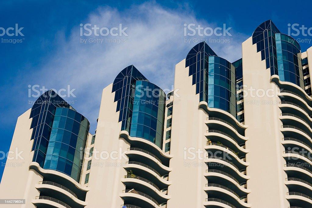 skyscraper columns royalty-free stock photo