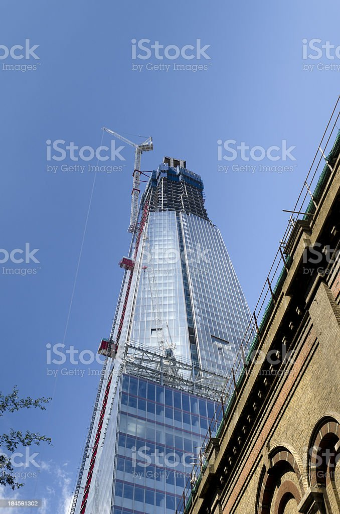 Skyscraper construction, central London royalty-free stock photo