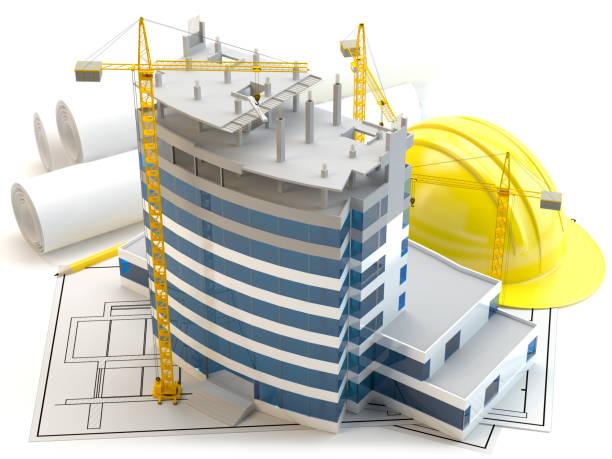 Wolkenkratzer-Konstruktion – Foto