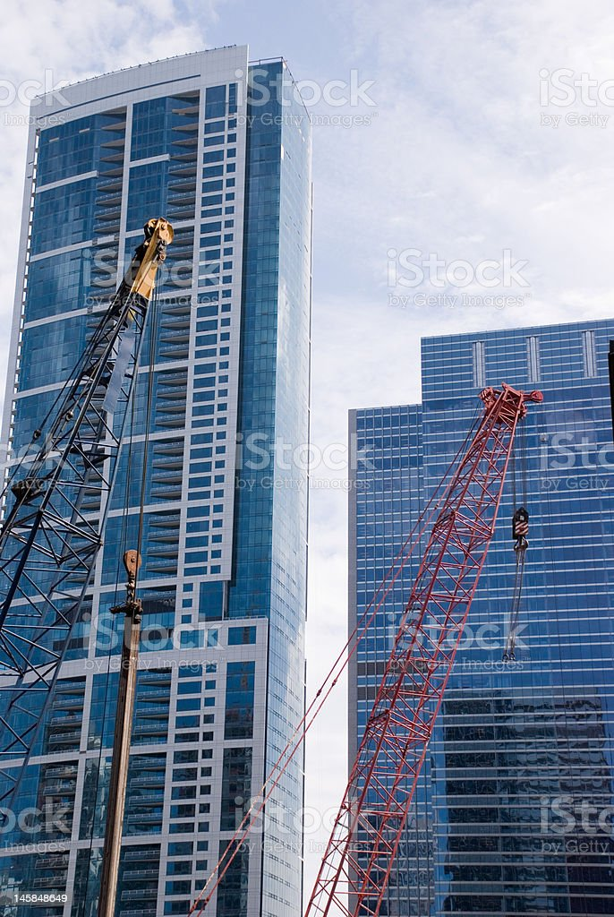 Skyscraper construction stock photo