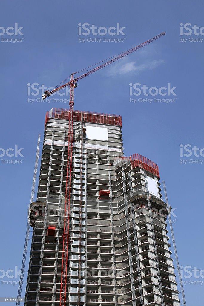 Skyscraper constuction site royalty-free stock photo