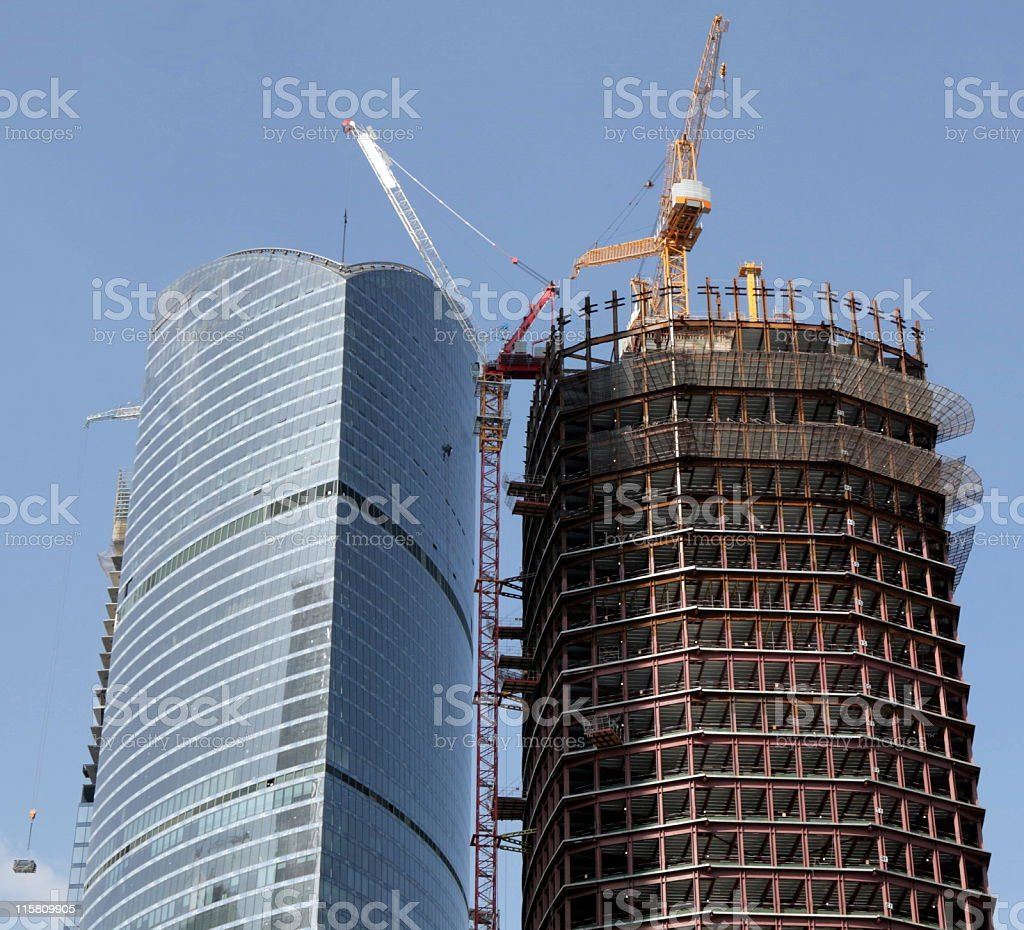 skyscraper develop on sky background royalty-free stock photo