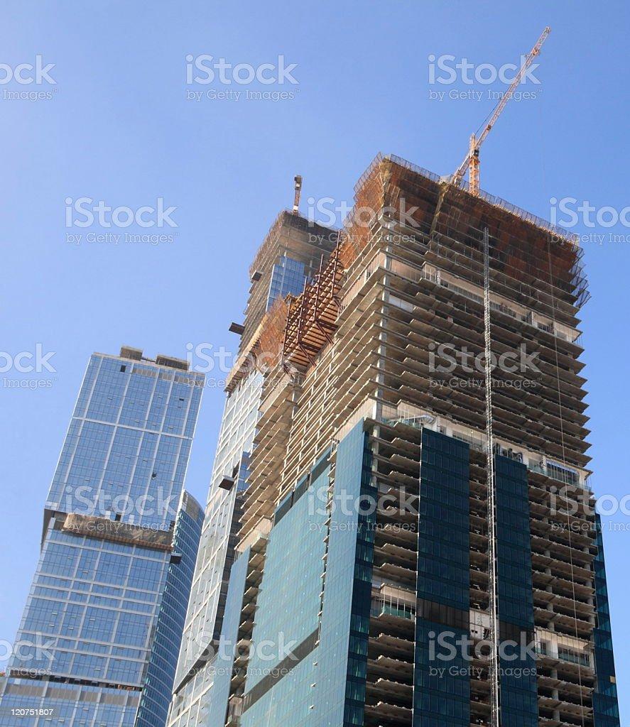 skyscraper develop on sky background royalty-free stock photo