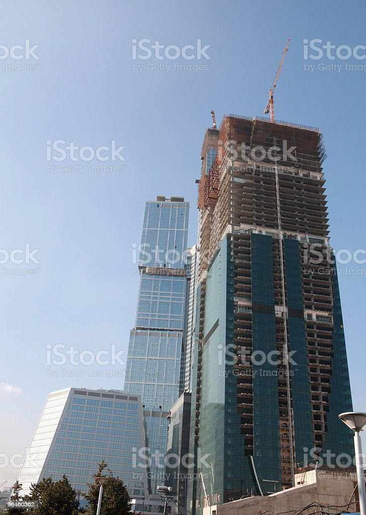 Grattacielo sviluppare foto stock royalty-free