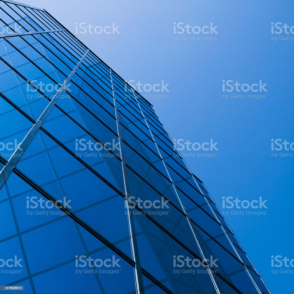 Skyscraper glass and reflections with copy space royalty-free stock photo