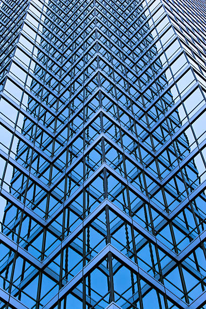Skyscraper glass windows detail II stock photo