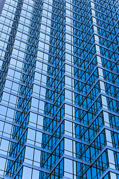 Skyscraper glass windows detail stock photo