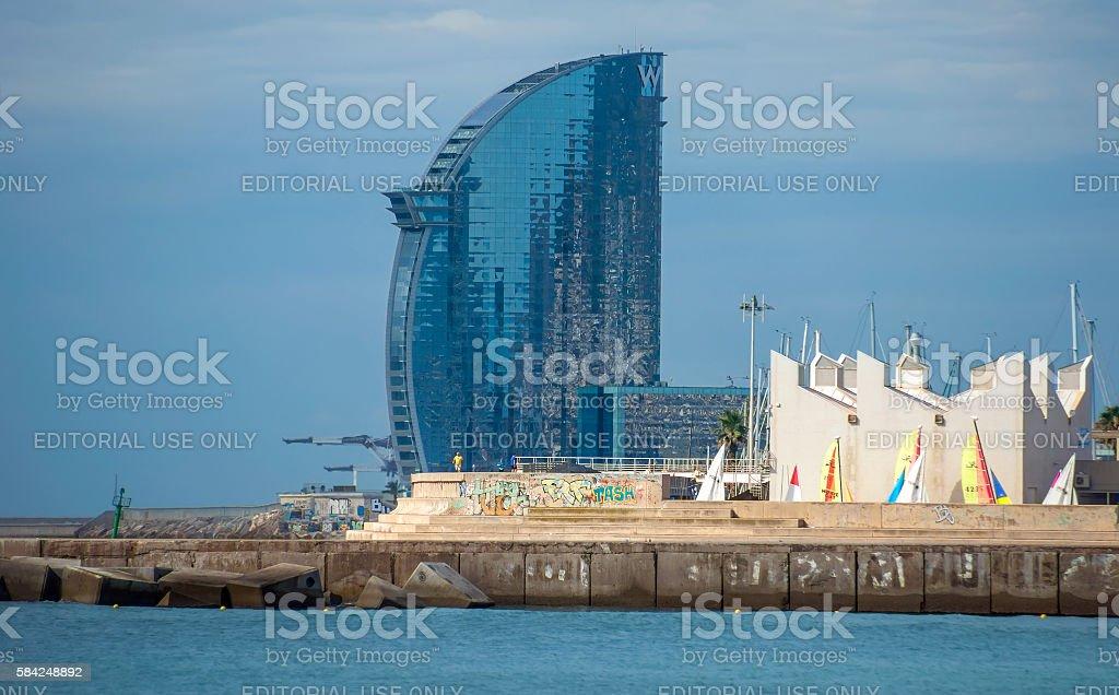 Skyscraper Hotel Vela stock photo