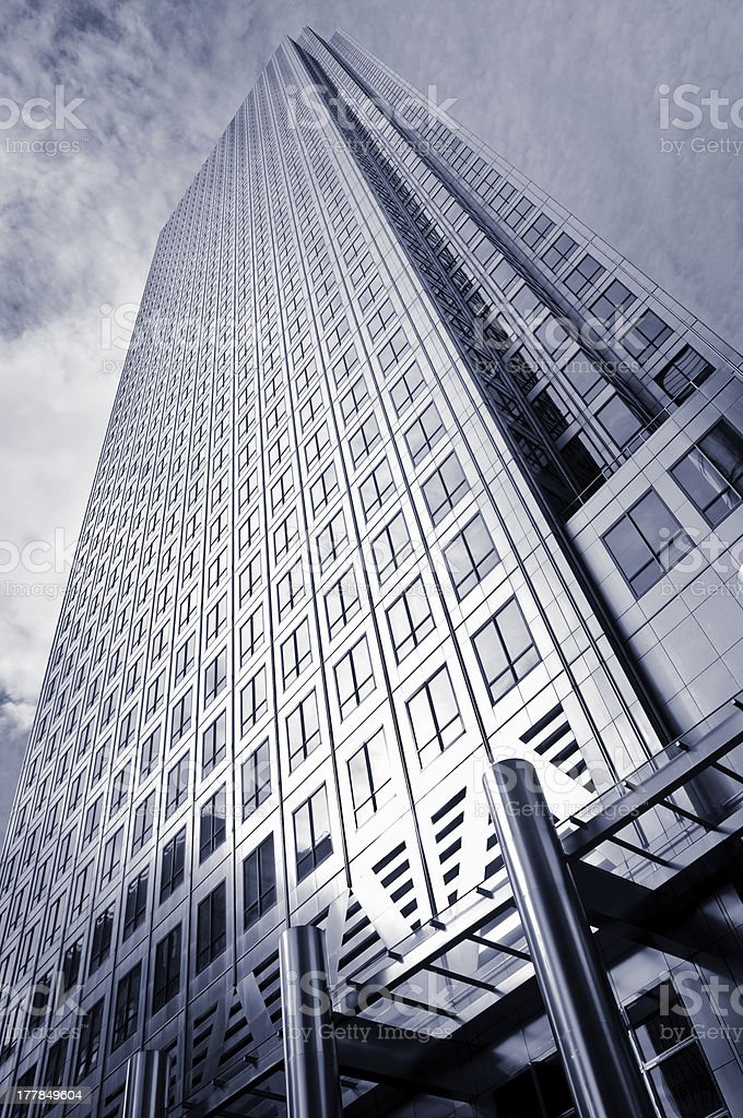 Skyscraper in Canary Wharf royalty-free stock photo