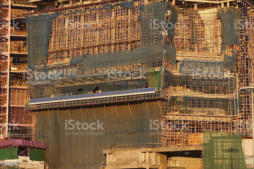 Skyscraper in Construction royalty-free stock photo