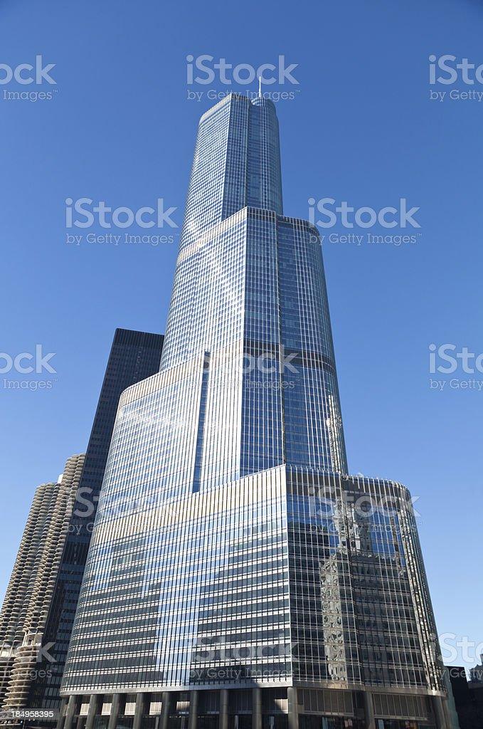 Skyscraper in downtown Chicago stock photo