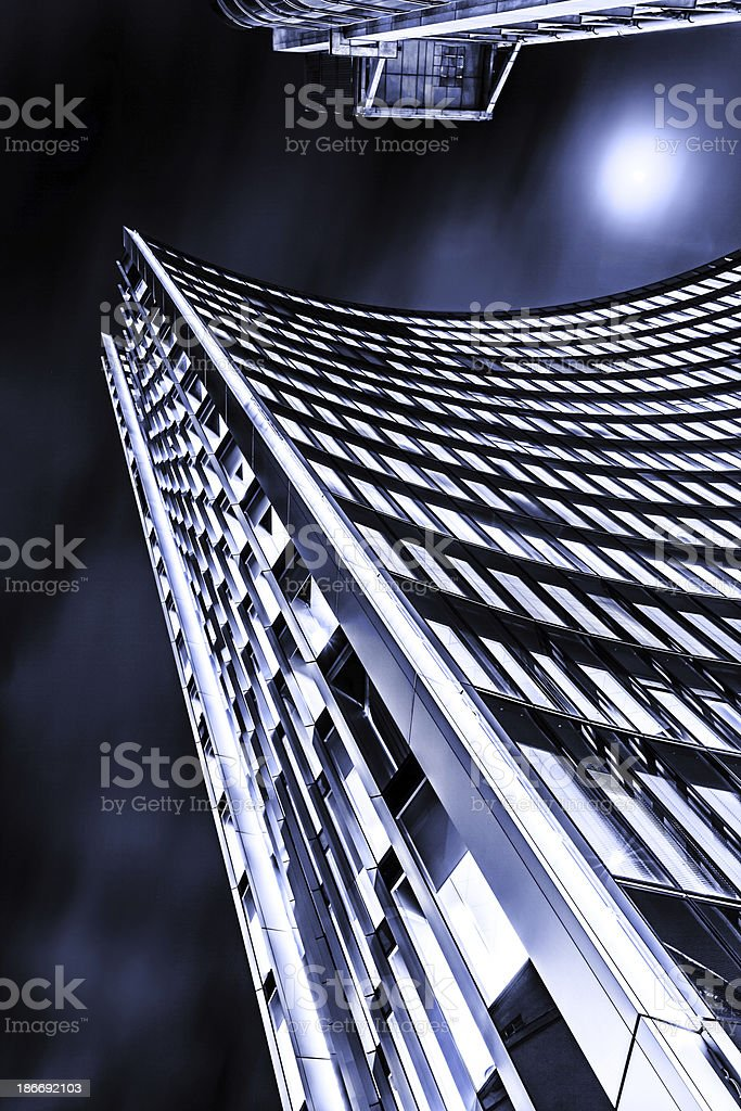 Skyscraper in financial district, City of London, UK royalty-free stock photo