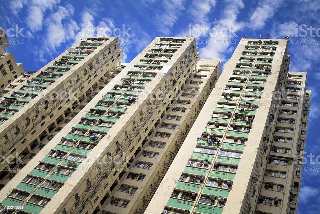 Skyscraper in Hong Kong, China royalty-free stock photo
