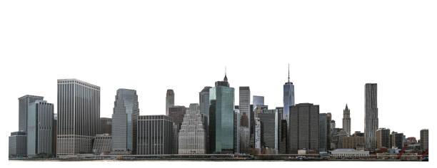 Skyscraper in Lower Manhattan, New York City stock photo