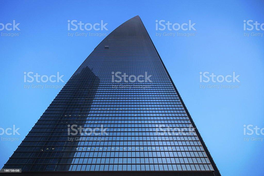 Skyscraper in Shanghai, China royalty-free stock photo