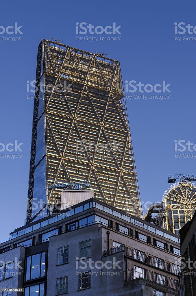 Skyscraper in The City of London stock photo