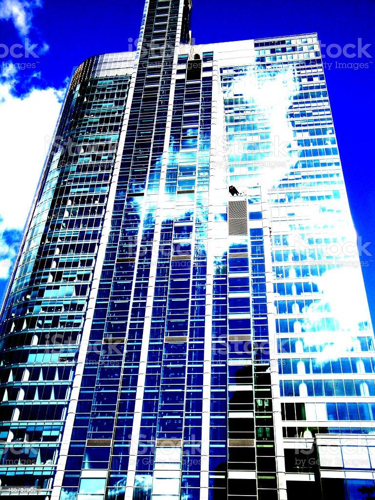 Skyscraper in Warsaw stock photo