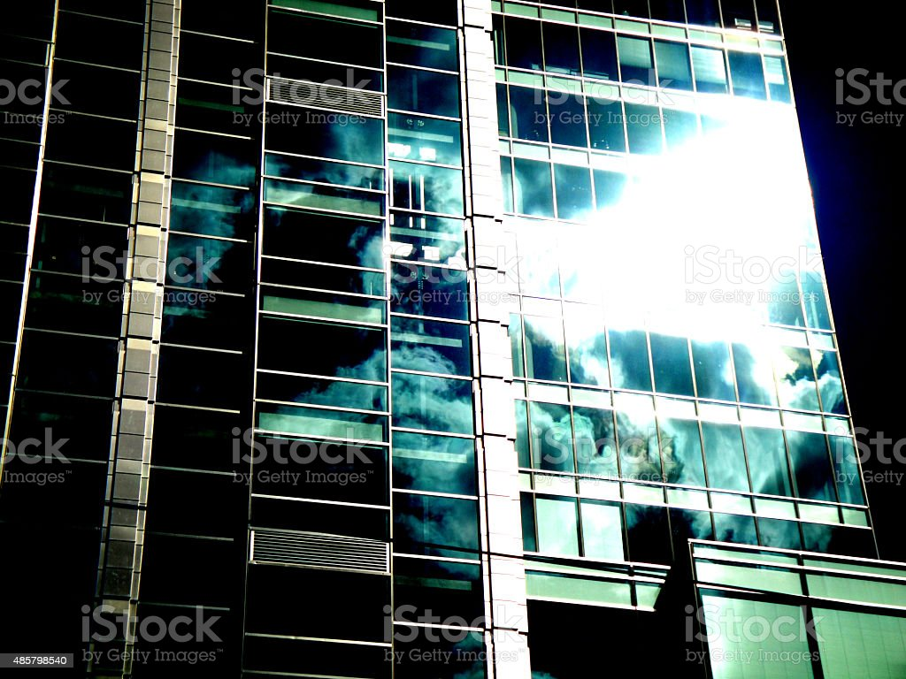 Skyscraper in Warsaw royalty-free stock photo