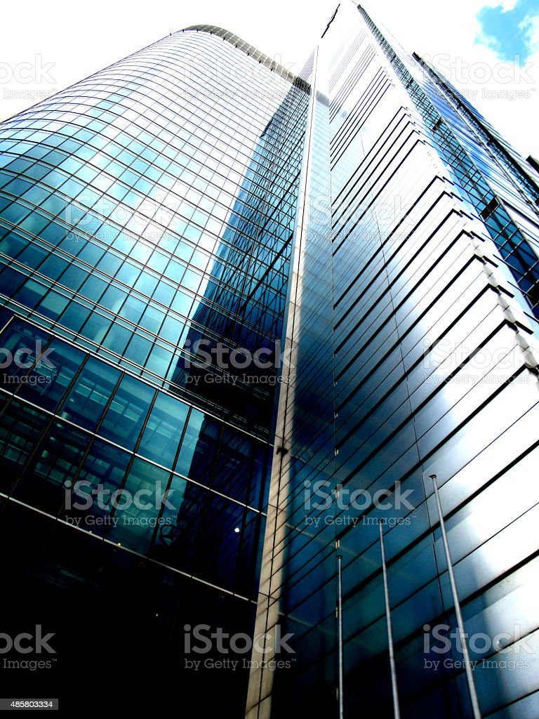 Skyscraper in Warsaw stock photo