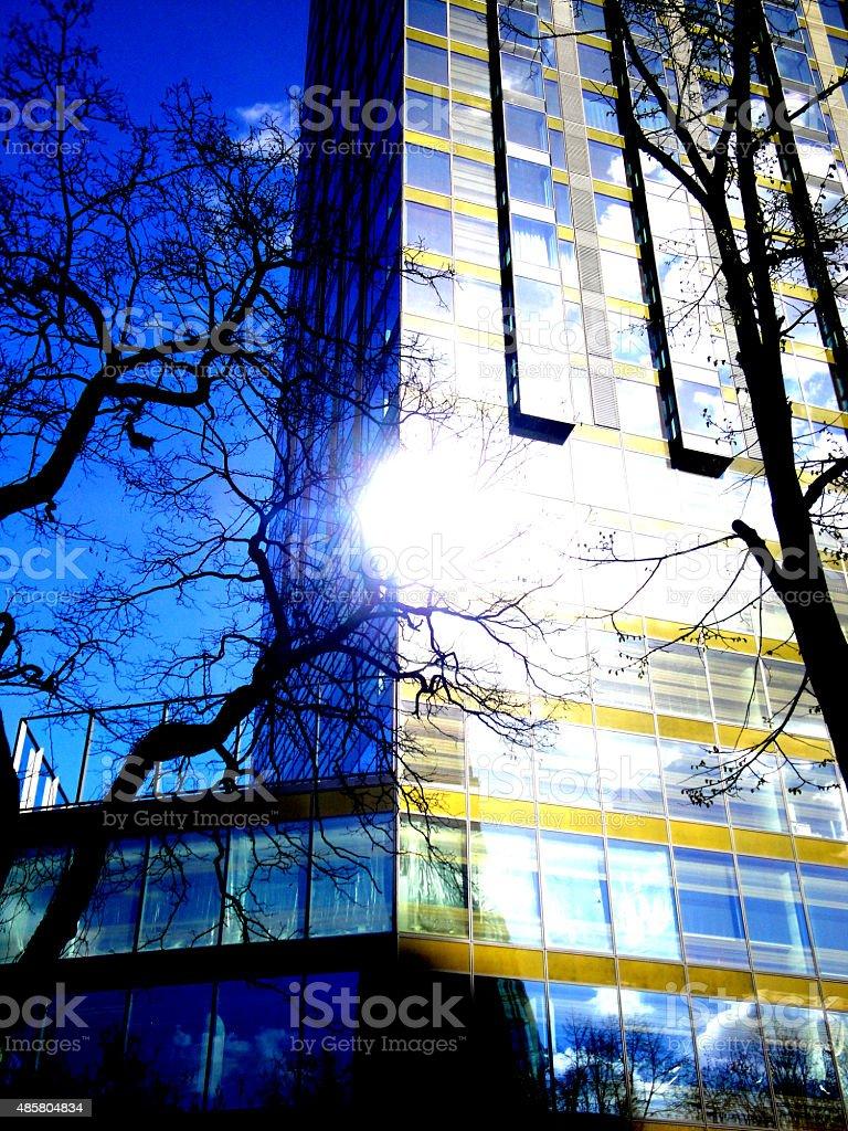 Skyscraper in Warsaw royalty-free stock photo