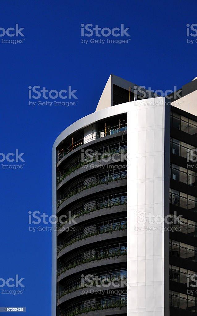 Skyscraper in Windhoek, Namibia stock photo
