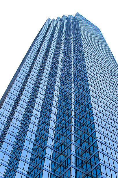 Skyscraper isolated from background stock photo