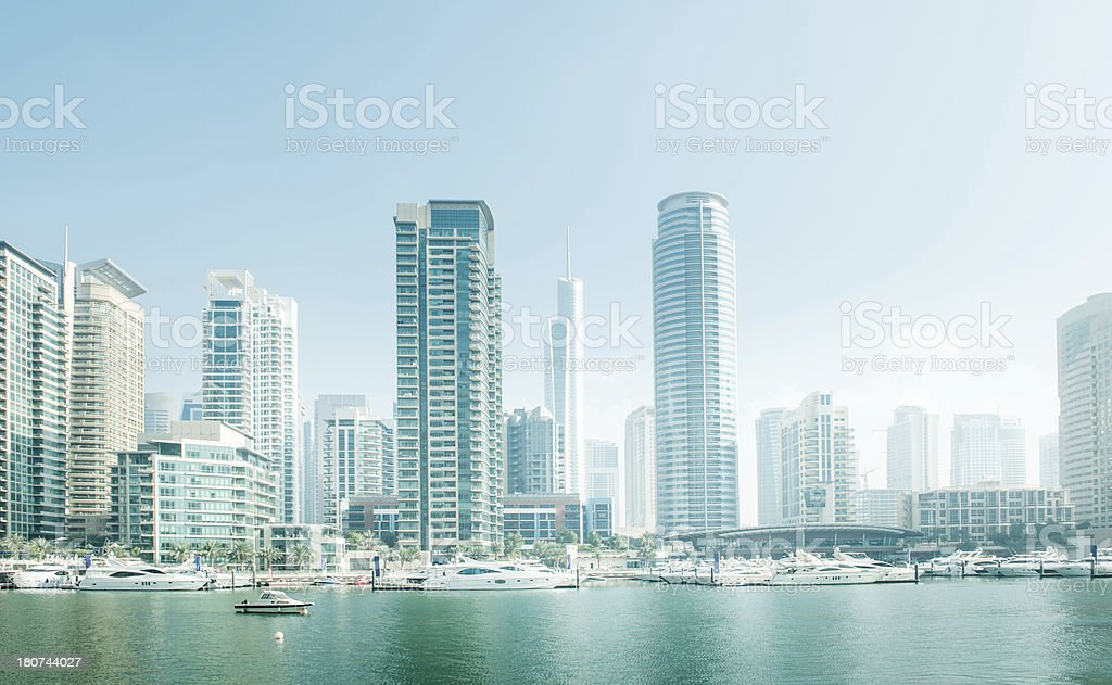 Skyscraper Marina stock photo