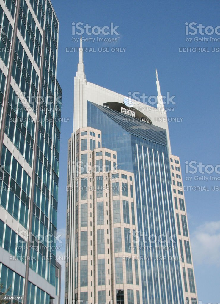 AT&T skyscraper, Nashville, Tennessee stock photo