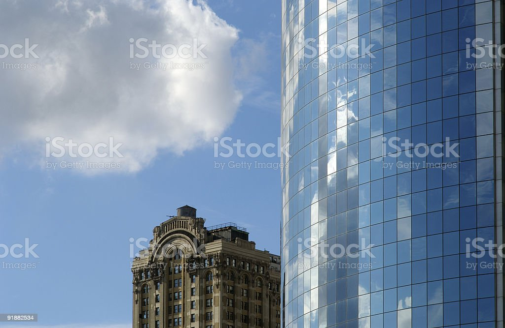 Skyscraper new and old royalty-free stock photo