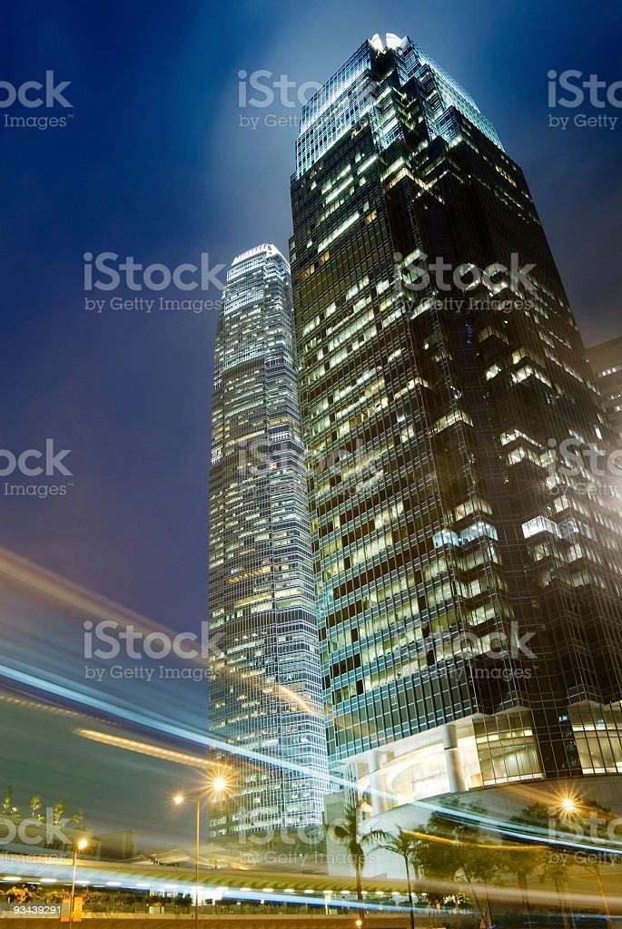 Skyscraper night royalty-free stock photo